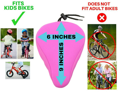 10.5*6.3 inch Bike Gel Narrow Seat Cover Padded FUCNEN Traditional Bike Small on