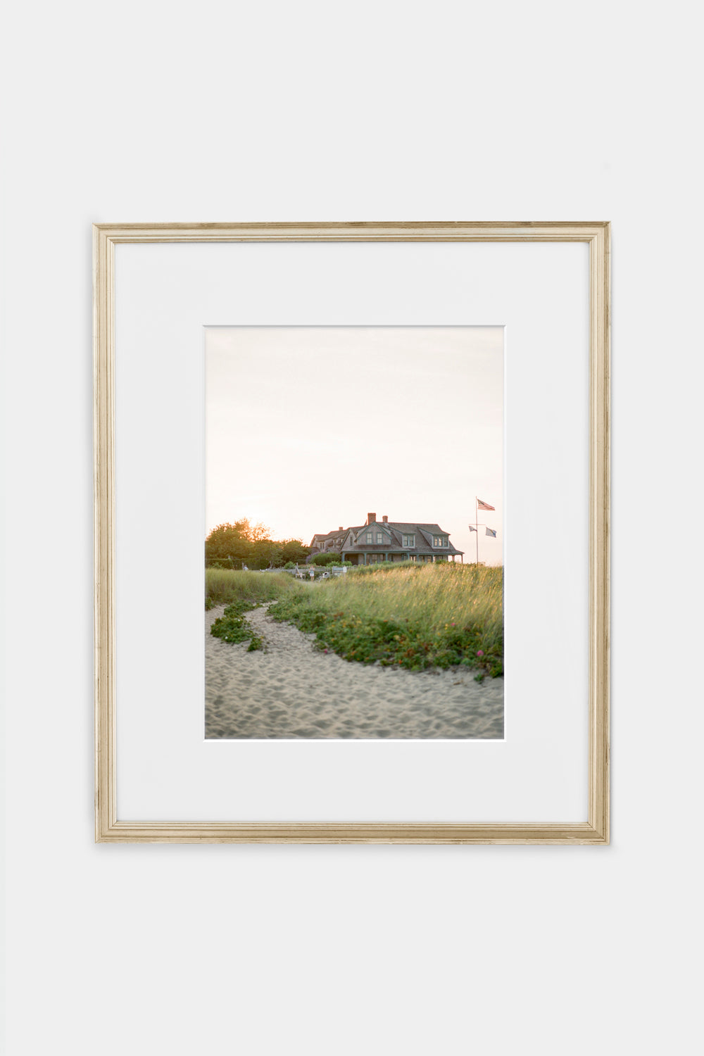 Sunset over a Nantucket Cottage