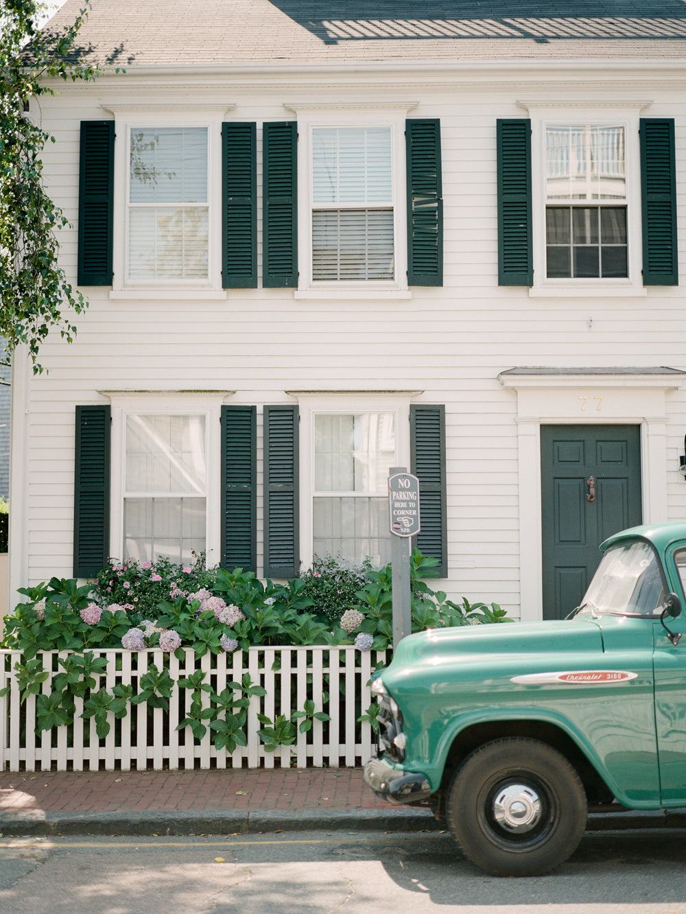 Green Truck in Nantucket