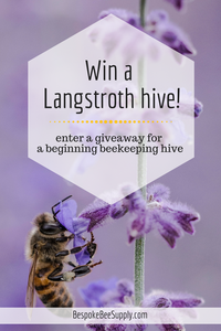 Win a handcrafted Langstroth hive, the perfect beehive for beginning beekeeping. Bespoke Beekeeping Supplies