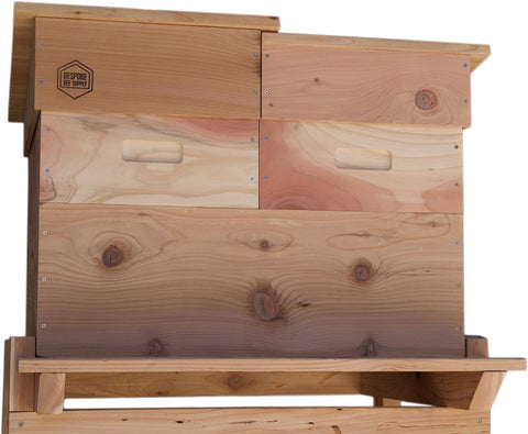 Horizontal Langstroth Hive with Two Medium Supers