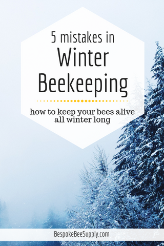 How to keep bees alive in winter: 5 common beginner beekeeping mistakes to avoid with winter beekeeping. Bespoke Bee Supply