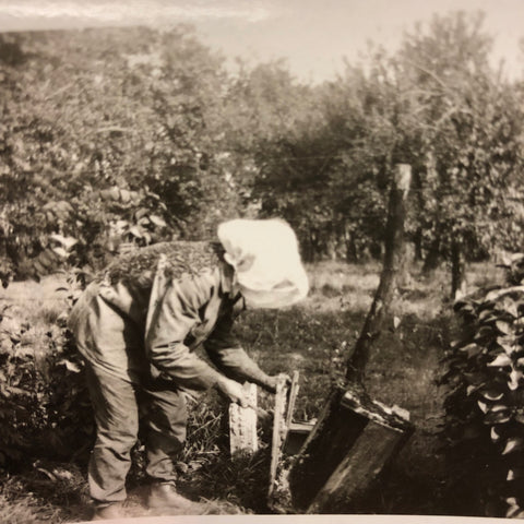 Beekeeping is in our blood (that's Bill's great-grandfather): No wonder we make sustainable beehives! Bespoke Bee Supply