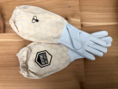 Beekeeping gloves are a critical part of supplies for a beginning beekeeper. Bespoke Bee Supply