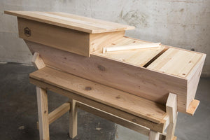 Top Bars inside a Western Red Cedar Top Bar Hive
