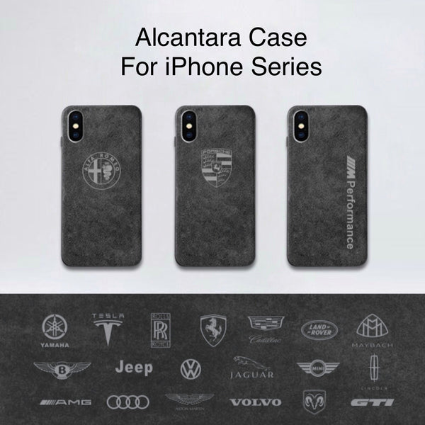 Custom Alcantara Case For iPhone Models