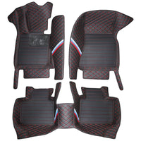 BMW 6 Series GT Premium Custom Leather Floor Mats W/ Carpeted Liners