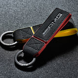 Custom Premium Alcantara w/ Leather Strap Keyring