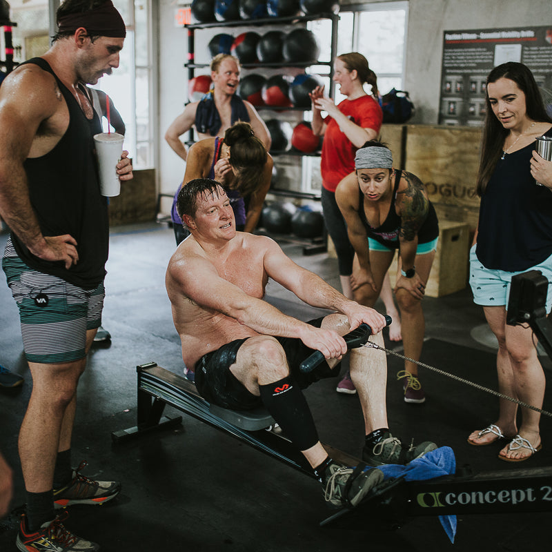 CrossFit Rowing Competition With Community Group Fitness
