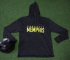 Unisex Crossfit Memphis Hooded Thermal in Vintage Black / Yellow