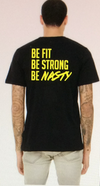 Crossfit Memphis Be fit be strong be nasty Short Sleeve Tee Vintage Black / Yellow