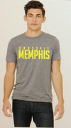 Crossfit Memphis Be fit be strong be nasty Short Sleeve Tee Heather Grey / Yellow
