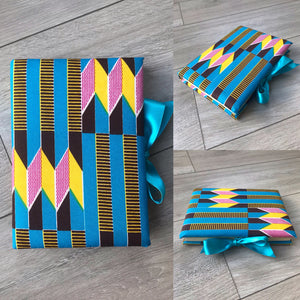 Blue Kente Padded Notebook