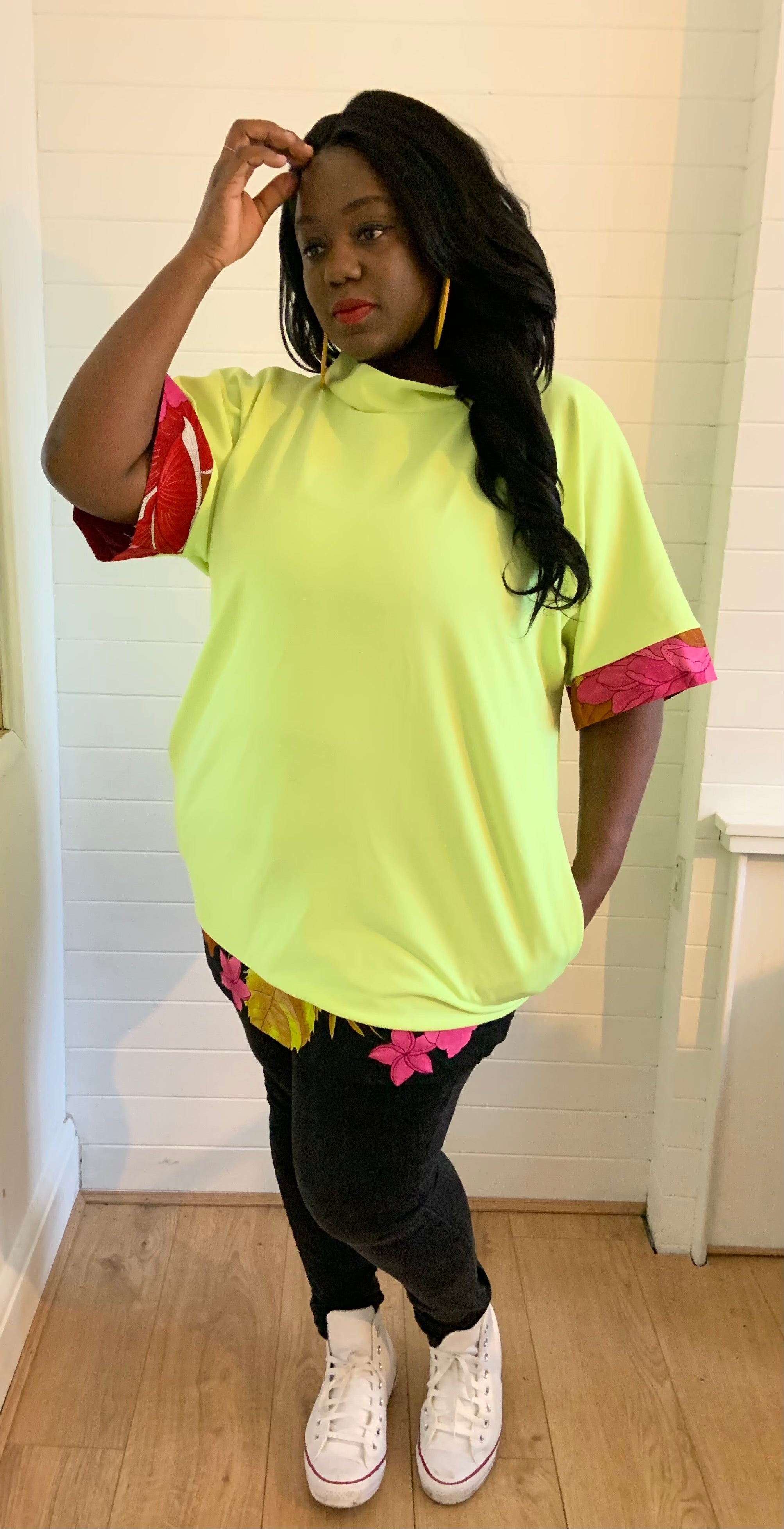 Oversized Lime Green Tunic