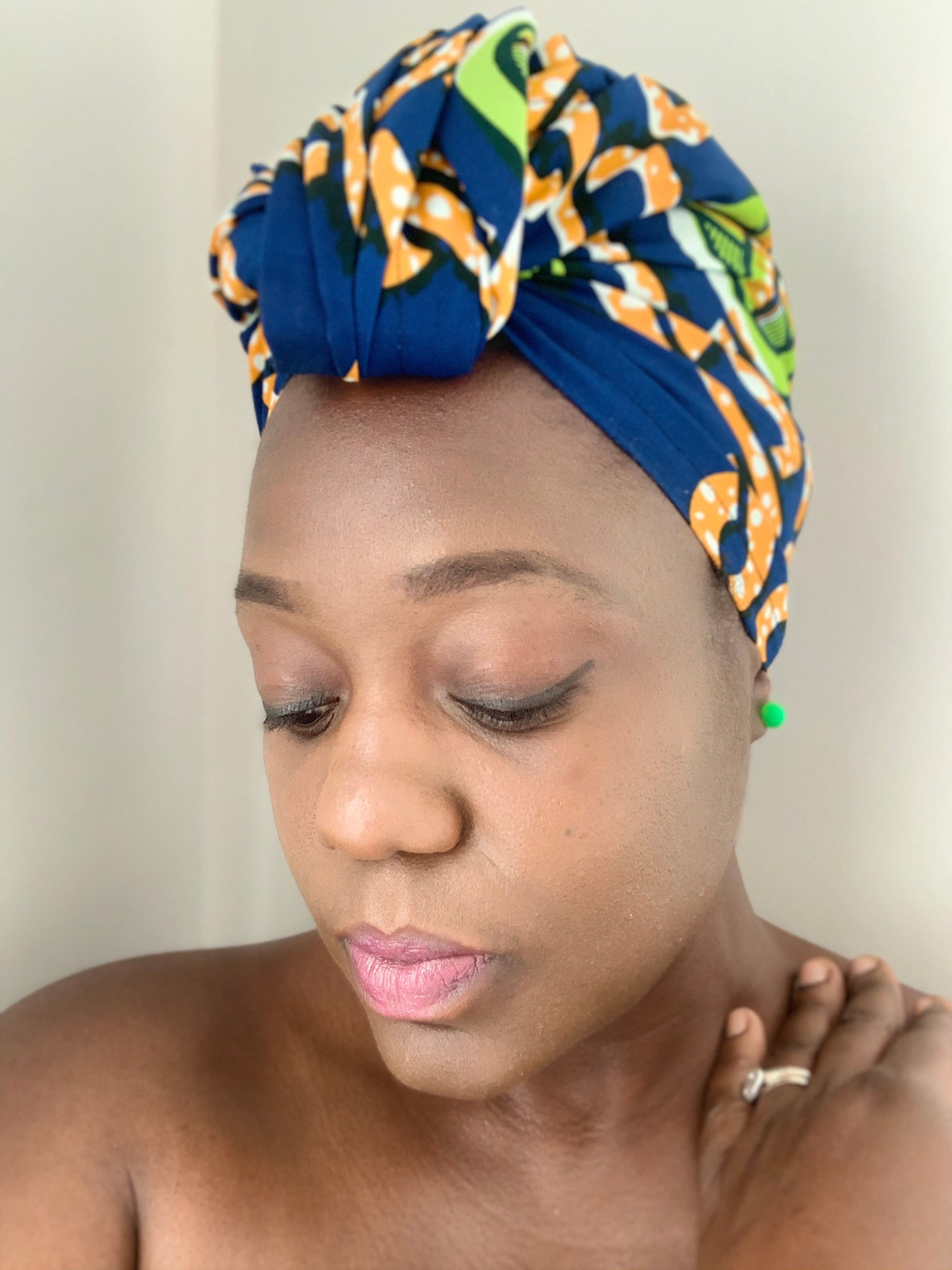 Orange Swirl Head Wrap