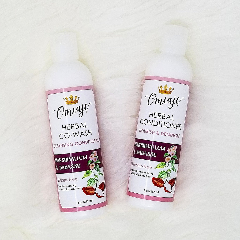 Herbal Co-Wash | Herbal Conditioner | Marshmallow & Babassu Set