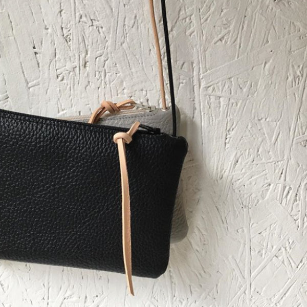 Leather Mini Purse Noir