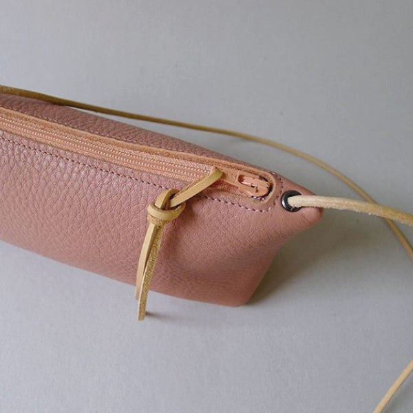 Leather Mini Purse Blush