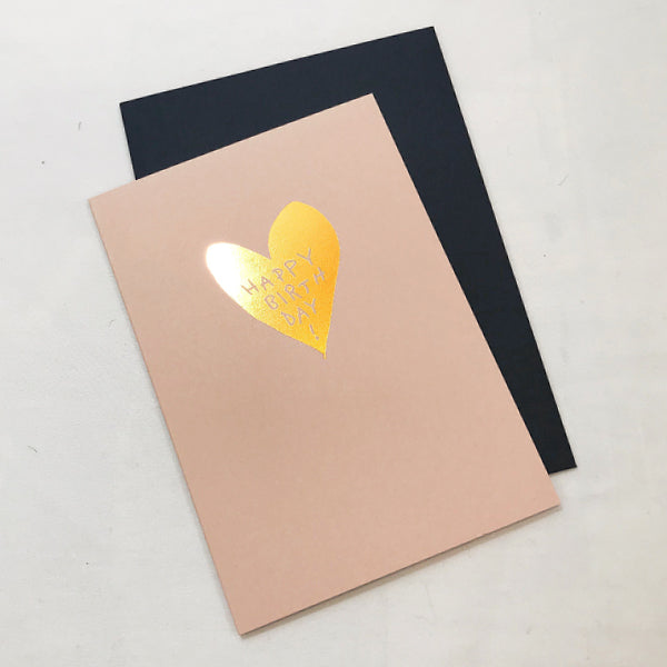 Copper Birthday Heart Card