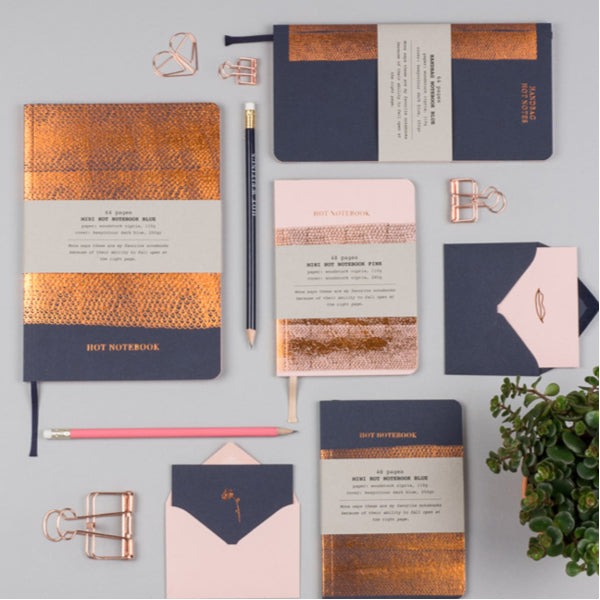 Copper Notebook A5 Navy