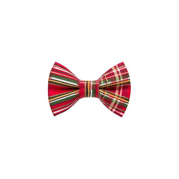 Kitty Bow Holiday Plaid