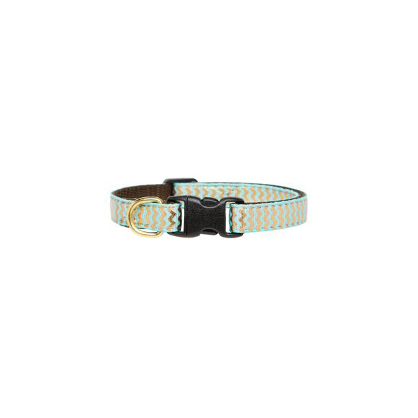 Kitty Collar Zig Zag Blue