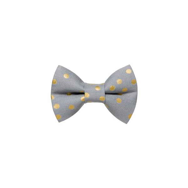 Kitty Bow Dots Gold
