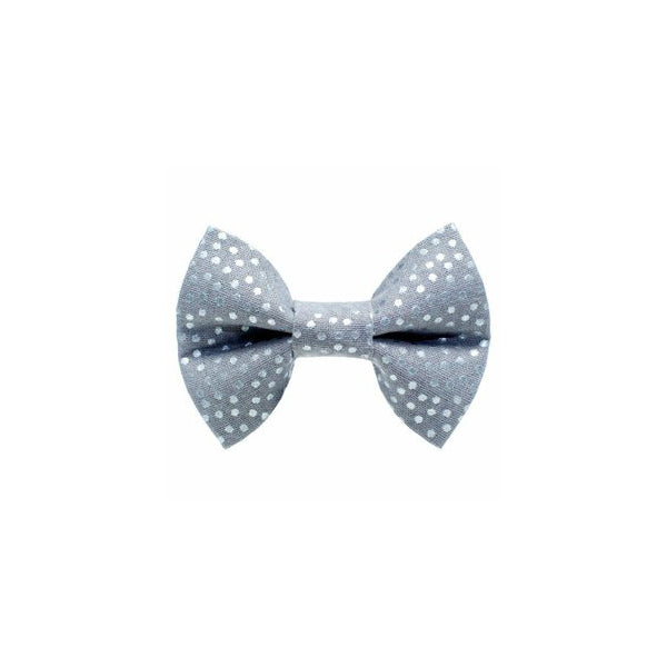 Kitty Bow Dots Silver