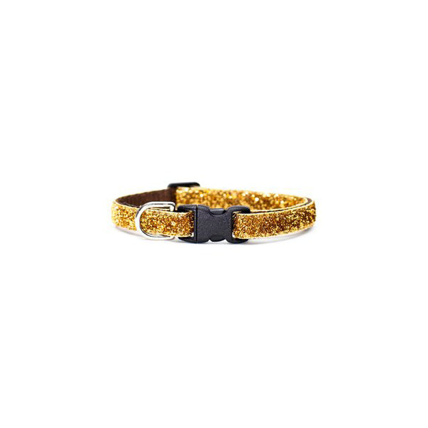 Kitty Collar Glitter Golden