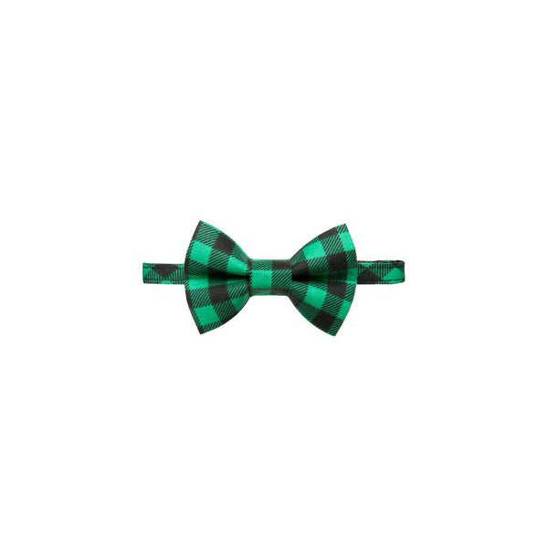 Kitty Collar Set Buffalo Check Green