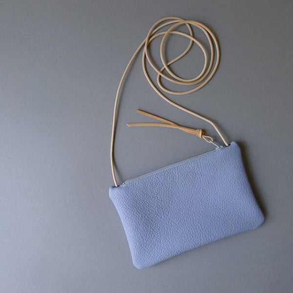 Leather Mini Purse Lavender