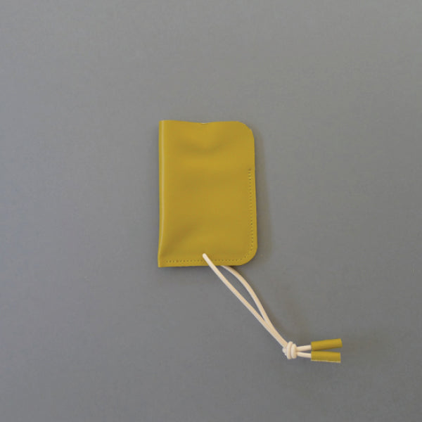 Leather Card Case Mustard
