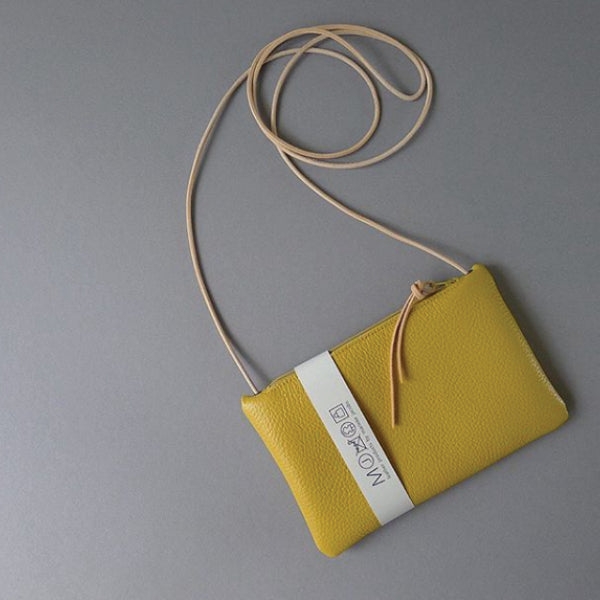 Leather Mini Purse Mustard