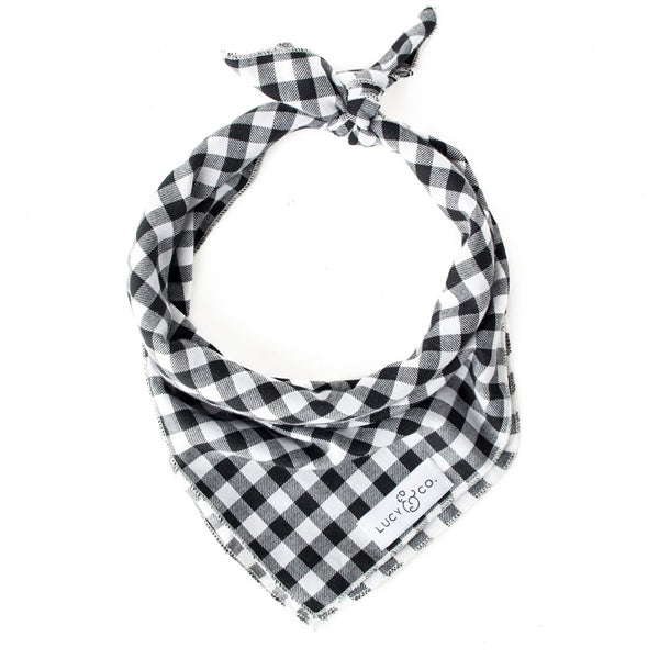 Pet Bandana Black Check