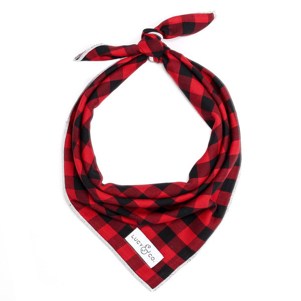 Pet Bandana Buffalo Plaid