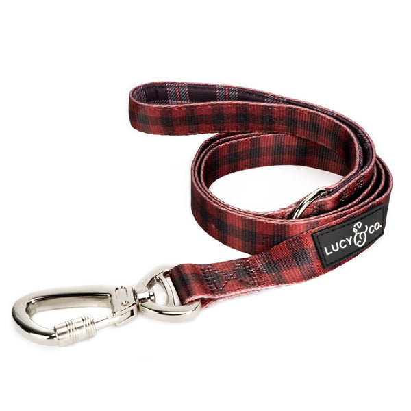 Pet Leash Buffalo Plaid