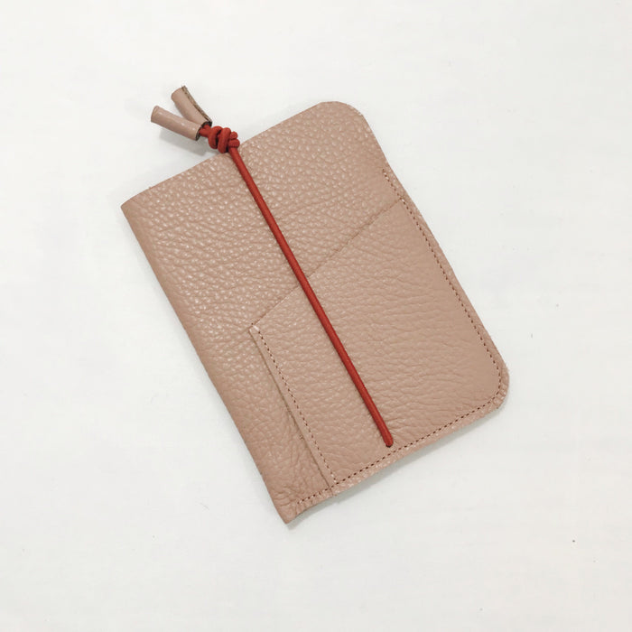 Leather Passport Cover Blush
