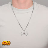 Star Wars Tie Fighter Etched Pendant Necklace