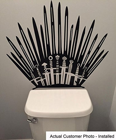 Game of Thrones Iron Throne Toilet Decal Sticker