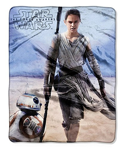 "Star Wars Episode 7: The Force Awakens ""Rebel Rey"" 40"" x 50"" Silk Touch Throw"