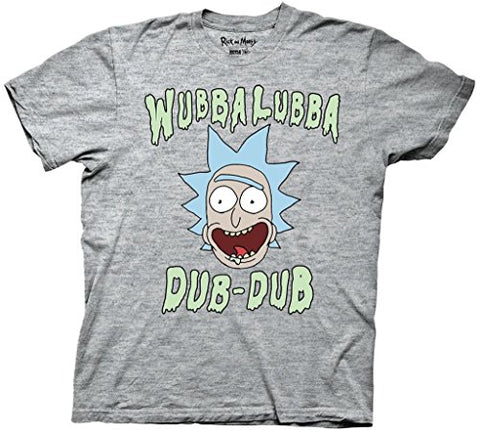 Rick and Morty Wubba Lubba Dub Dub Heather Gray T-shirt