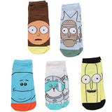Rick and Morty Faces 5-pack Adult Socks