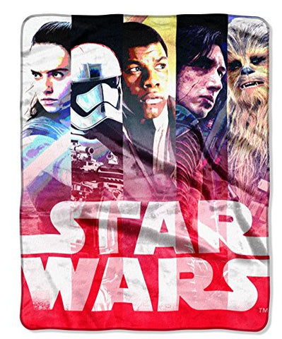 "Lucasfilm Star Wars Episode 8: The Last Jedi, ""Alliance Stripes"" 40"" x 50"" Silk Touch Throw"