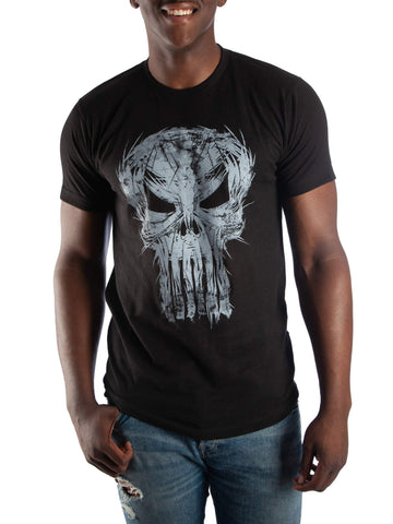 Marvel Comics Men's Punisher T-Shirt, Up To Size 3Xl