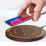 Ultra Slim Fast Wireless Charging Pad with Magic Array Illumination