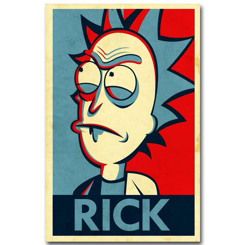 Rick and Morty Art - Rick Vintage Print