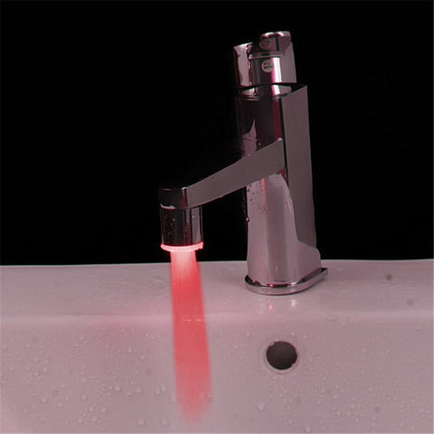 LED Temperature Sensor Faucet Light