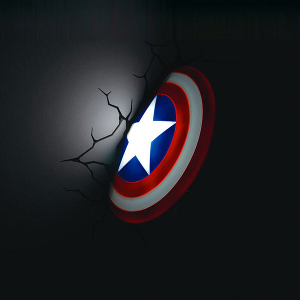 Captain America Shield LED Wall Lamp