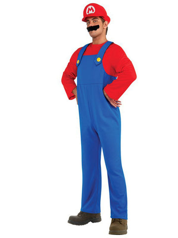 Super Mario or Luigi Deluxe Mens Adult Costume