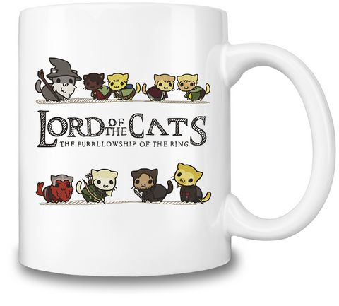 Lord of the Cats: The Furrlowship Of The Ring Coffee Mug